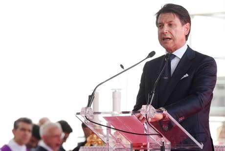 O primeiro-ministro italiano, Giuseppe Conte, que anunciou sua renúncia