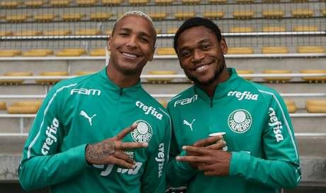 Deyverson e Luiz Adriano podem ser escalados juntos - Borja é outro candidato (Foto: Cesar Greco)