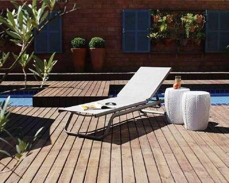 11. Uma das formas mais comuns de usar o garden seat é em áreas externas – Foto: Rattan Florianopolis