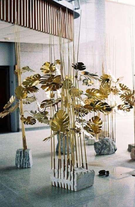 32. As folhas da Costela de Adão pode transformar-se em uma obra de arte. Foto: Visual Identidade Única