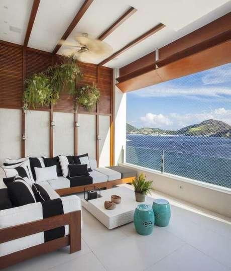 21. O seat garden é perfeito para criar mais lugar se sentar – Foto: Casa de Valentina
