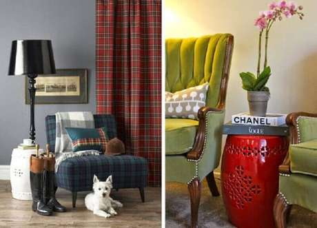 3. O seat garden pode servir como uma mesa lateral na sala de estar – Foto: Chique e Simples