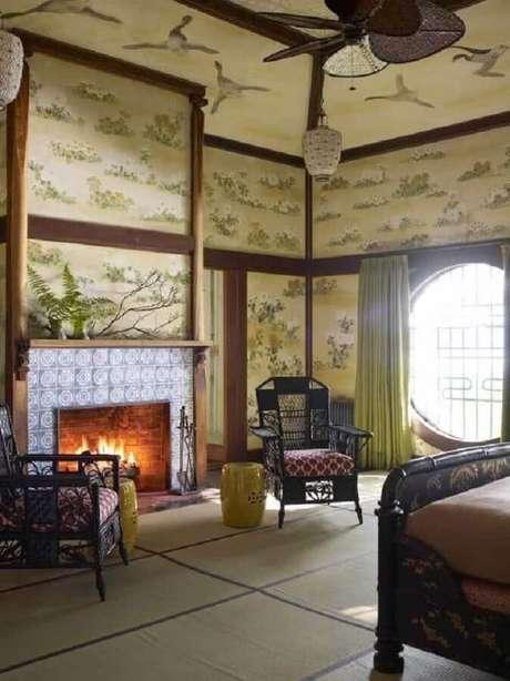 38. Seat garden para decoração de quarto amplo com estilo clássico – Foto: Pinterest