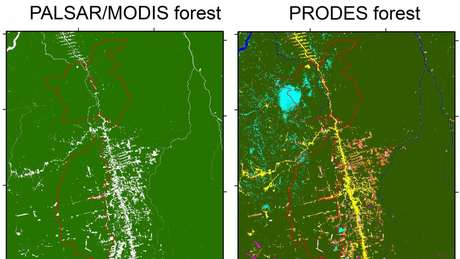 Pesquisadores de Oklahoma se basearam em dados do radar PALSAR, que faz imagens através de nuvens, enquanto o Inpe usa o PRODES, com base no satélite LANDSAT, em que 5% a 15% das imagens ficaram cobertas por nuvens ou sombras no período analisado