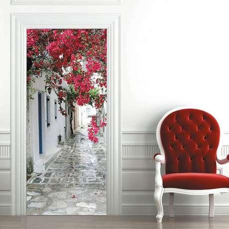 26. O efeito miragem é muito comum em adesivo de porta. Foto: Ali Express