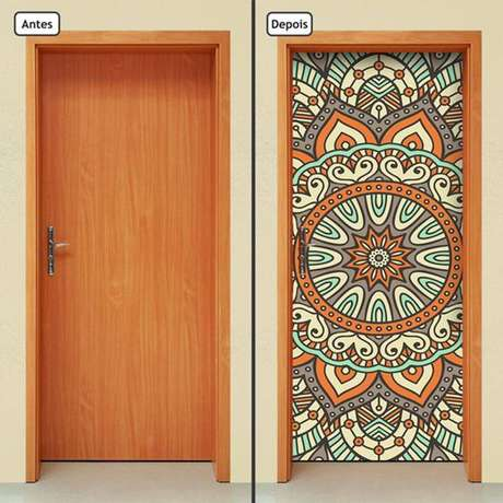 2. Com o adesivo de porta você pode ter diferentes desenhos. Foto: Americanas