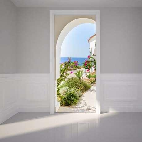 12. O efeito 3Dé muito comum no adesivo de porta. Foto: Ali Express