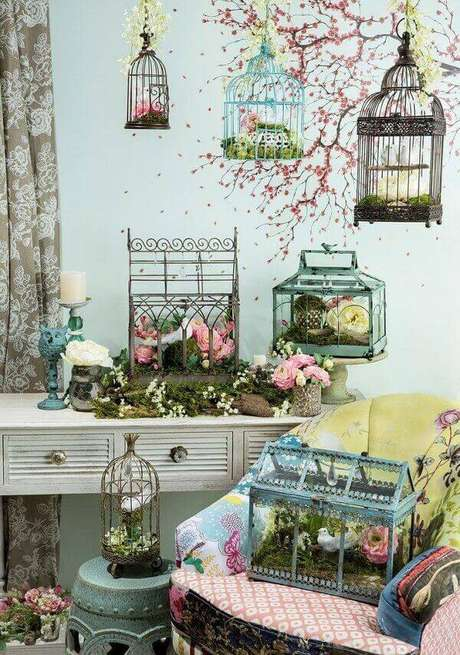 49. Diferentes modelos de gaiolas decorativas. Fonte: Pinterest