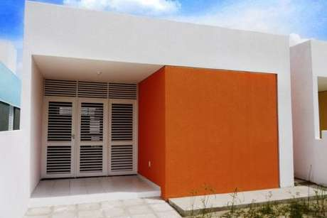 12. Pintura de casa com laranja – Por: doce obra