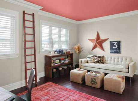 15. Pinturas de casas por dentro com teto colorido – Por: Lar Doce Lar