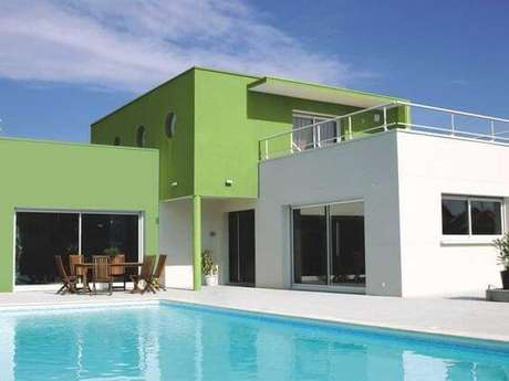 10. Que tal pinturas de casas modernas na cor verde? – Por: Pinterest