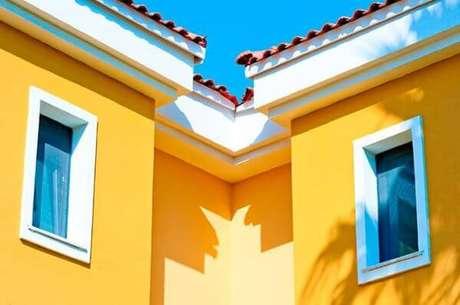 16. Pinturas de casas amarela – Por: Castor