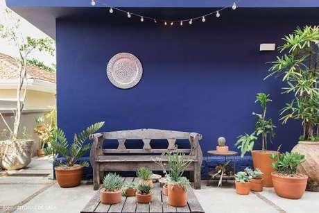 19. Pinturas de casas azul para varanda – Por:Histórias de Casa
