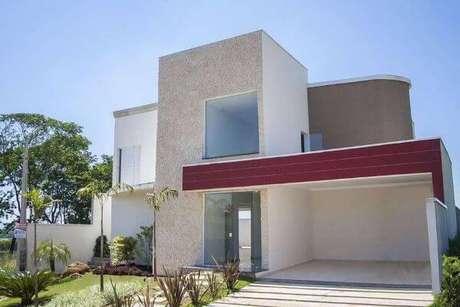 25. Pinturas de casas em branco e vermelho fica ainda mais moderno – Por: Pinterest