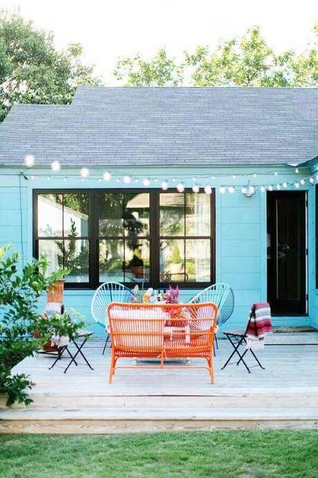 29. As pinturas de casas coloridas são super chamativas – Por: Ideias Decor