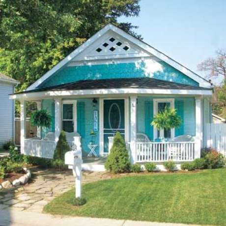 31. As pinturas de casas com tiffany são lindas – Por: Pinterest