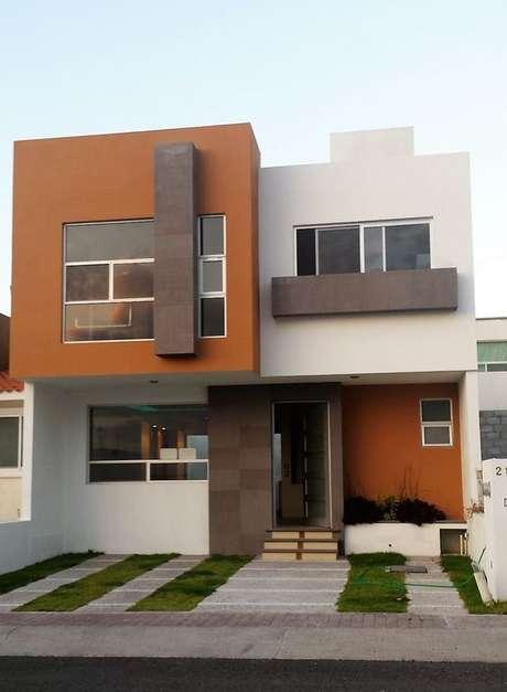 46. Pinturas de casas com laranja e marrom – Por: Pinterest