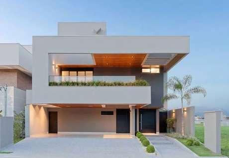 47. As pinturas de casas modernas com design em linhas retas – Por: Revista VD