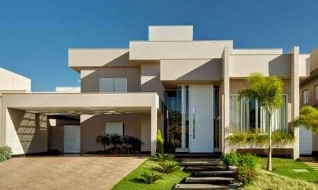 49. As pinturas de casas modernas também ficam lindas com cores claras – Por: Revista VD