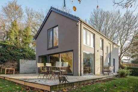 55. As pinturas de casas cinza são lindas para casas pré fabricadas – Por: Revista VD