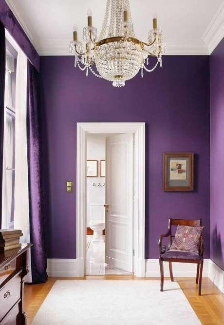 57. Pinturas de casas na cor roxa – Por: Pinterest