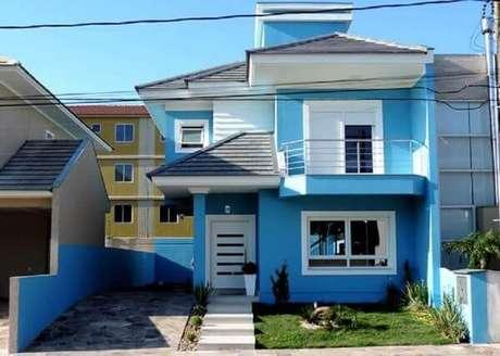 65. Use suas cores favoritas para fazer as pinturas de casas – Por: Revista VD