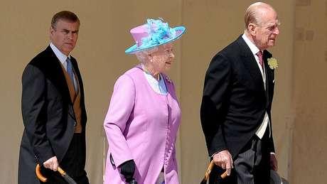 Andrew é o terceiro filho da rainha Elizabeth