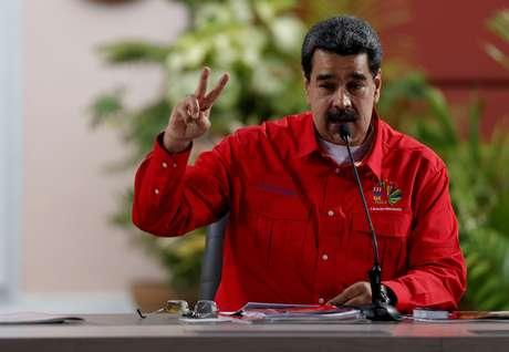 Presidente da Venezuela, Nicolás Maduro, discursa durante reunião do Foro de São Paulo, em Caracas<br /> 28/07/2019 REUTERS/Manaure Quintero