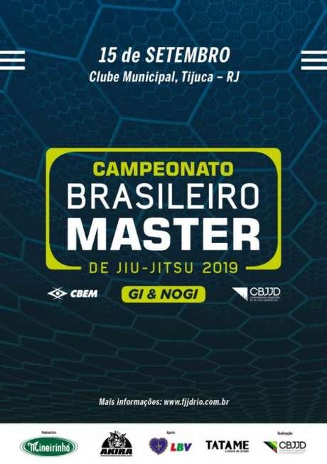 Brasileiro Master em 2019 será mais uma vez uma atração da CBJJD no próximo mês de setembro (Foto: Divulgação)