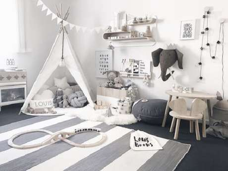 51. A cabaninha cria um ambiente lúdico para a criança. Fonte: Pinterest