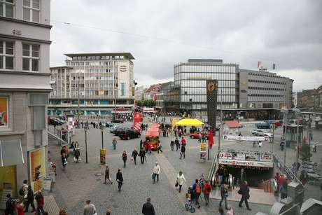 Centro de Bielefeld, na Alemanha.