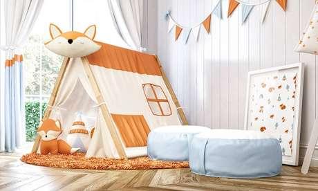 6. Cabaninha infantil de raposinha encanta a decoração do quarto. Fonte: Pinterest
