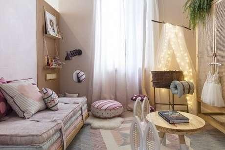 37. Cabaninha infantil decora o quarto do bebê. Fonte: Pinterest
