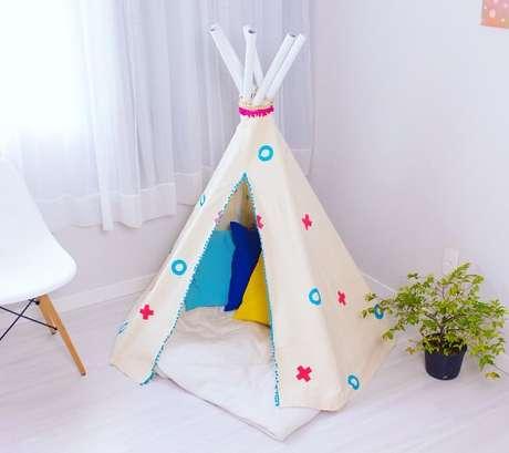 3. Cabaninha infantil Teepee complementa a decoração do quarto. Fonte:Karla Amadori