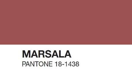 2. A cor marsala foi a cor do ano em 2015 – Por: Pantone