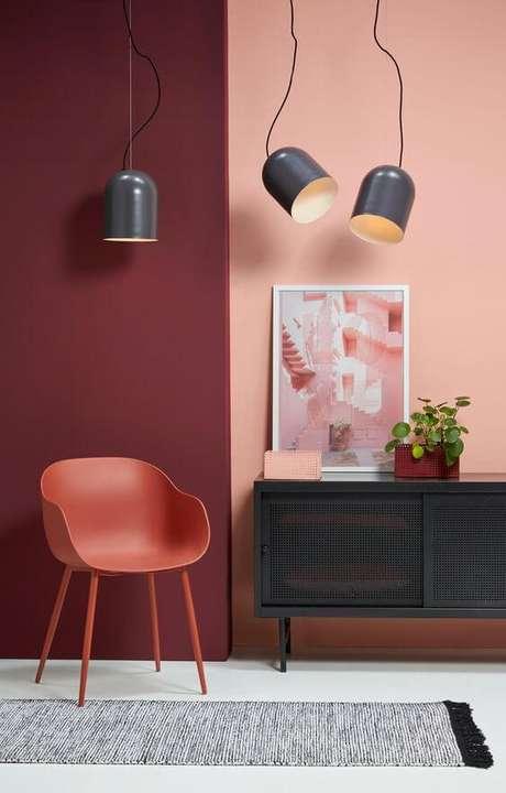 57. Paleta de cores na cor marsala para a decoração moderna – Por: Pinterest