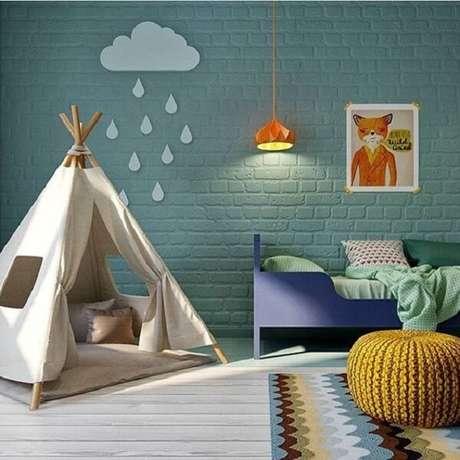 34. Por que decorar o quarto das crianças com cabaninhas? Fonte: Pinterest