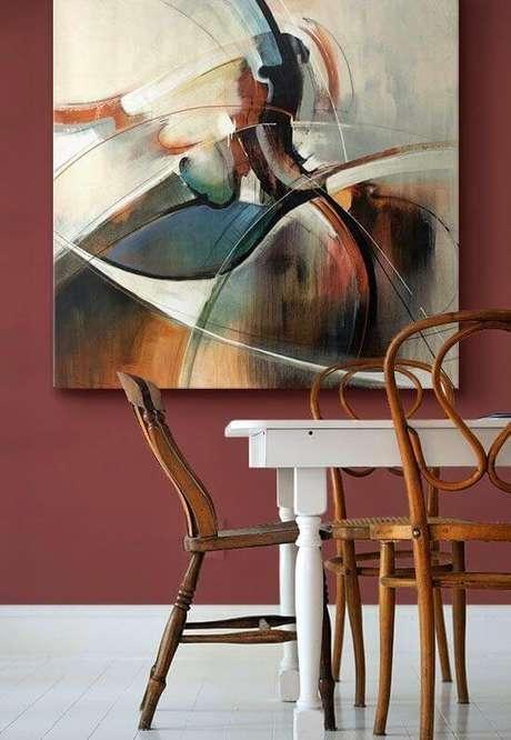 68. Até os quadros devem combinar com a cor vinho marsala – Por: Pinterest