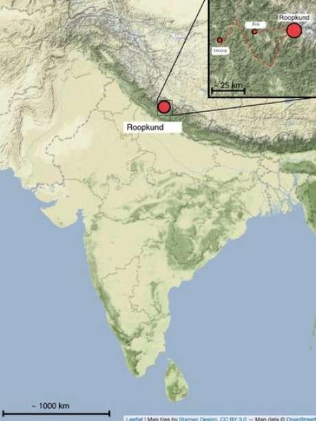 O lago está na rota do festival de peregrinos Nanda Devi Raj Jat