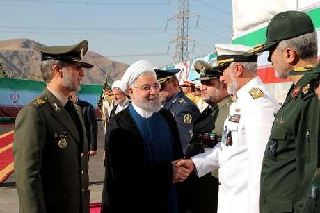 Presidente do Irã, Hassan Rouhani, durante cerimônia de anúncio de sistema antimísseis 22/08/2019 Site oficial do presidente do Irã/Divulgação via REUTERS