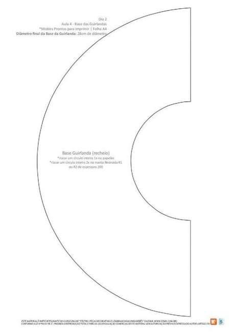 3. Molde para a base da guirlanda de feltro – Por: Pinterest