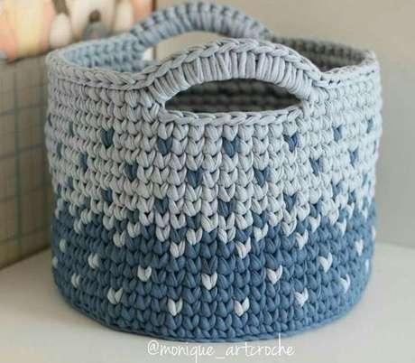 33. Um efeito de chuva pode ser criado no cesto de crochê. Foto: Top Buzz