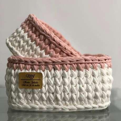 42. O cesto de crochê deve ser feito pensando em sua necessidade. Foto: Tua Casa