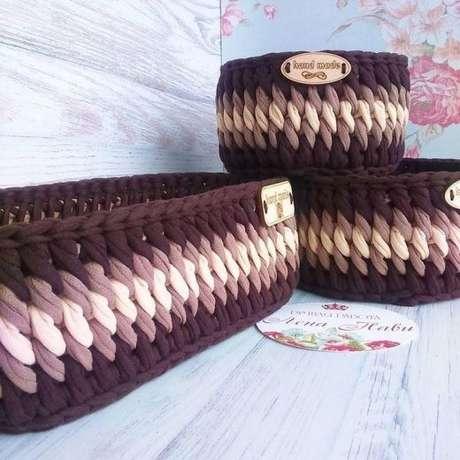 30. Muitos efeitos podem ser criados com o cesto de crochê. Foto: Criativo Ok