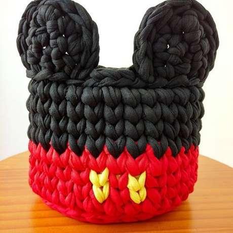 50. O cesto de crochê pode ser o que você quiser. Foto: Casa e Construção