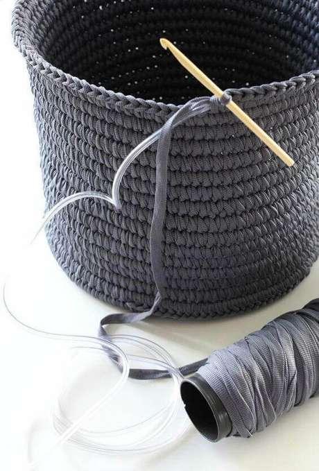 5. Fazer cesto de crochê não é algo tão difícil. Foto: Revista Artesanato