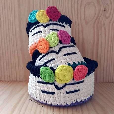 24. O tema do cesto de crochê pode ser muito divertido. Foto: Instagram