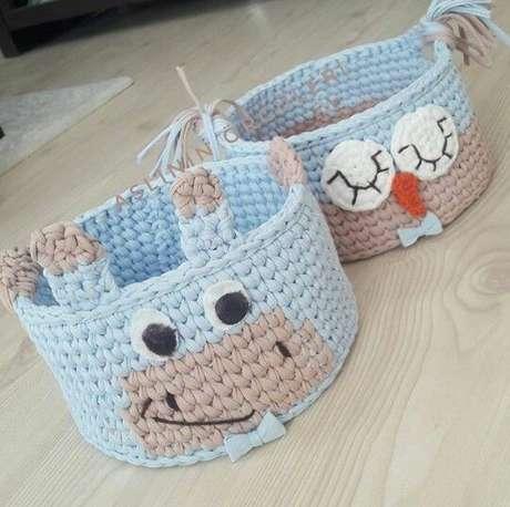 29. Crianças adoram cesto de crochê por serem muito divertidos. Foto: Pinterest
