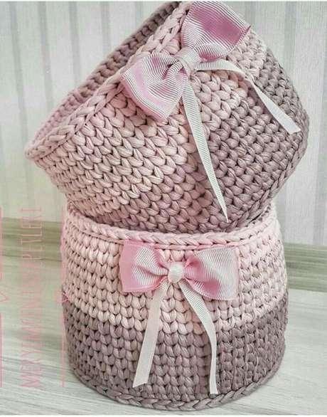 1. O cesto de crochê é um item decorativo muito popular. Foto: Top Buzz