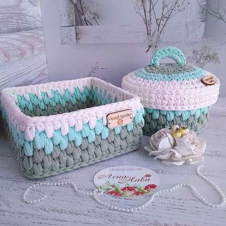 18. Muitos formatos podem servir como cesto de crochê. Foto: Criativo Ok